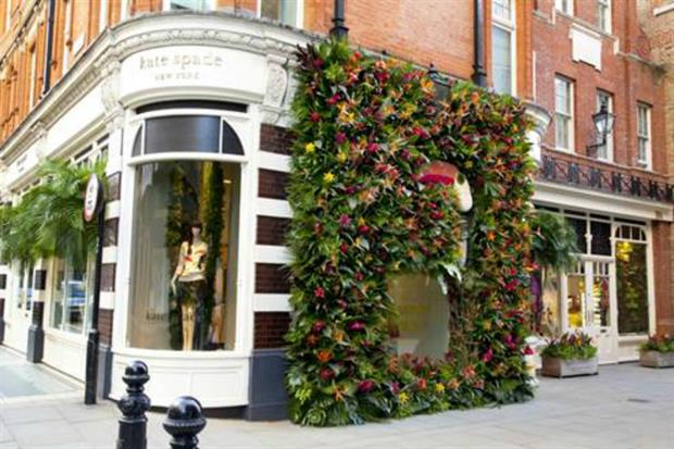 Kate Spade won Chelsea in Bloom 2014 with artwork made of birds-of-paradise. Image: Supplied