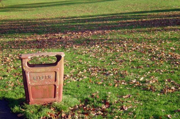 Litter bin in park. Image: Morgue File