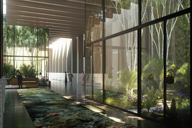 Artist's impression of the Wardian lobby. Image: Supplied