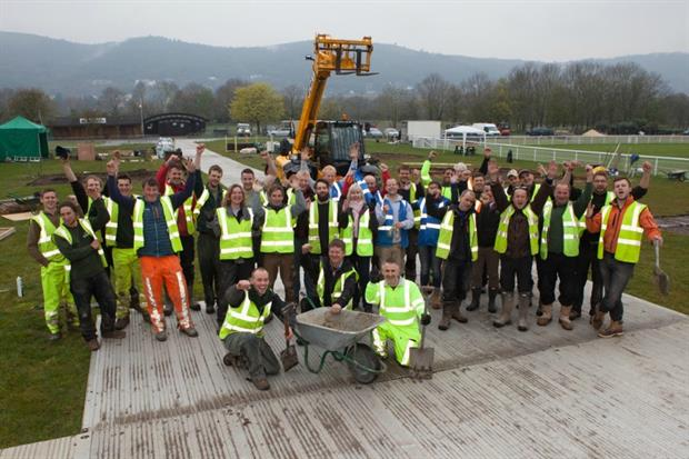 Breaking ground for the RHS Malvern Spring Festival. Image: Supplied