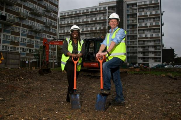 Cllr Margaret McLennan and Adrian Denbow. Image: Ground Control