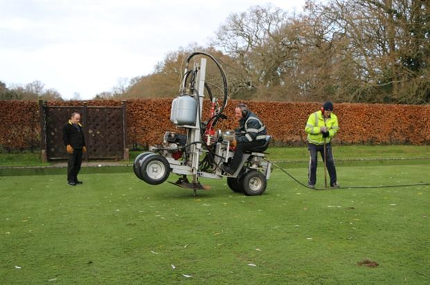 The Terralift at work. Image: Terrain Aeration