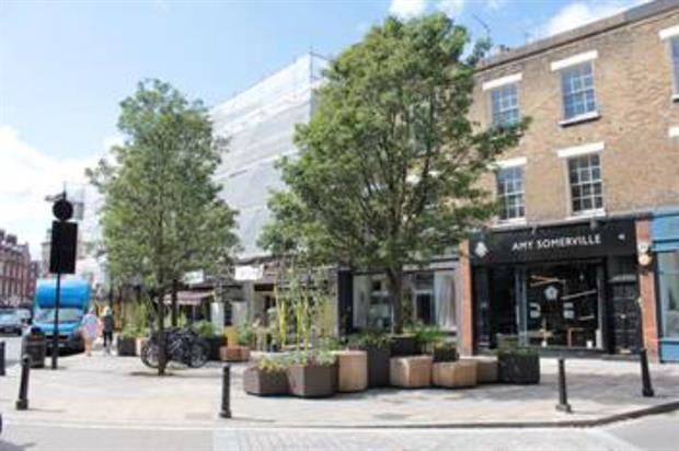 Pocket park on Pimlico Rd. Image: Grosvenor