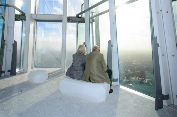 LazyLawn's 'Funky' turf makes over The View from the Shard. Image: Supplied