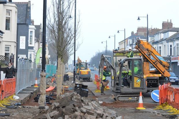 South Shields planting in progress. Image: Glendale