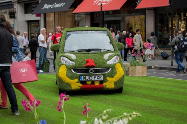 The Easibug parked on Easi-Stripe lawn. Image: Easigrass