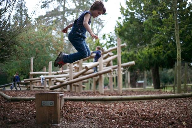 The adventure playground at Belton House. Image: Timberplay