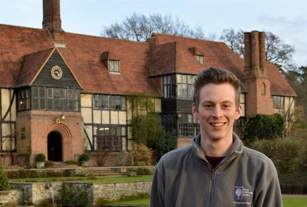 Winner of the Young Horticulturist of the Year 2016, Lawrence Wright