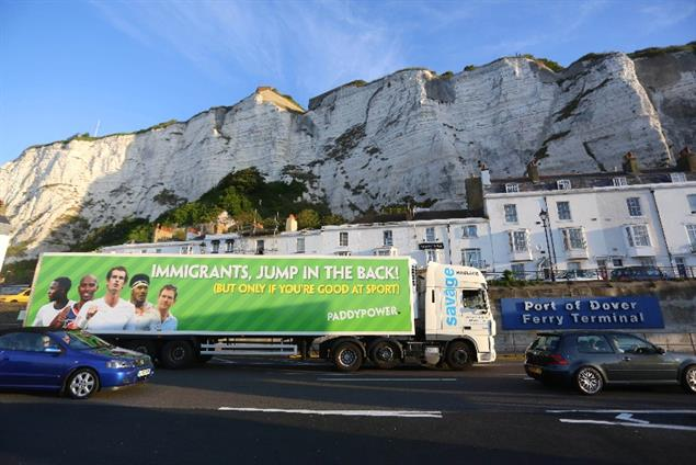 Paddy Power facing investigation over 'immigrant lorry' campaign