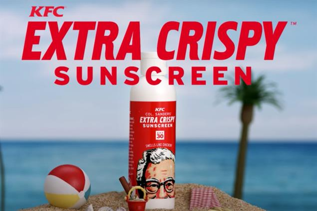 KFC gives away sunscreen that smells like fried chicken