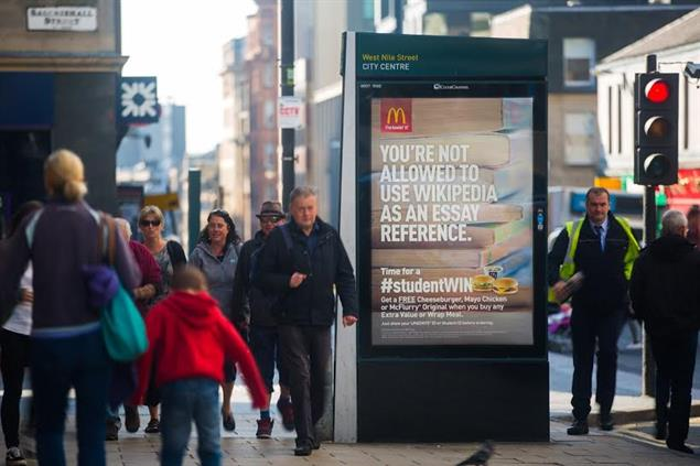 Brands should spend 45% of outdoor budget on digital, recommends OOH study