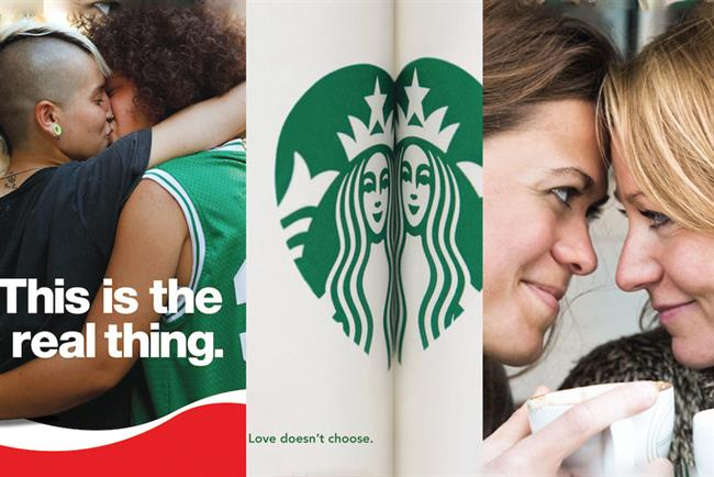 Starbucks, Coke and Nescafe ads re-created with lesbian twist