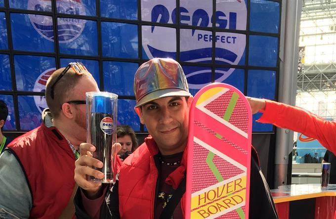 "At NY Comic Con, Pepsi takes fans 'Back to the Future' with ""Pepsi Perfect"""