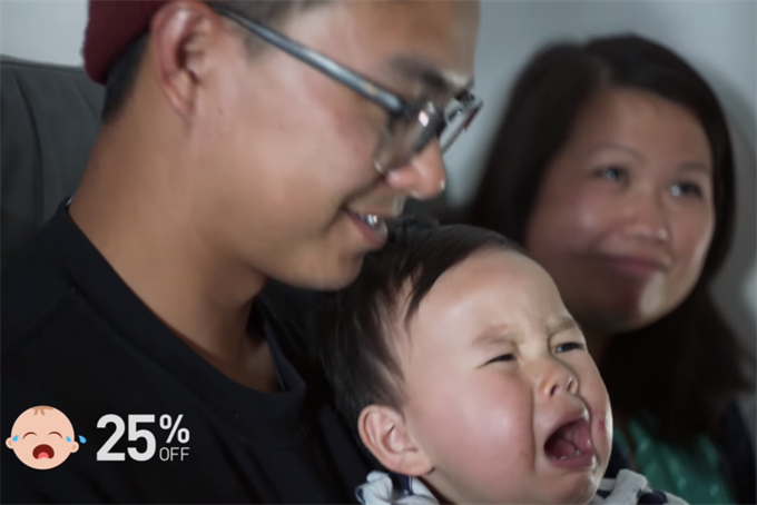 Screaming babies earn mothers applause, not dirty looks