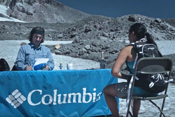 Columbia Sportwear job interview requires an impromptu mountain climb