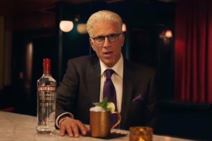 Ted Danson channels Sam Malone in Smirnoff ad