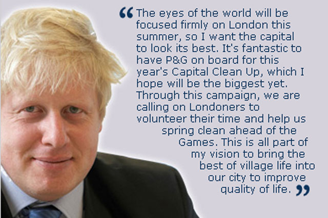 Boris Johnson: signs up for P&G's capital clean-up