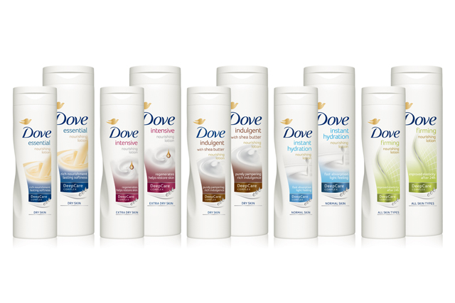 Dove Body range: simplified for consumers