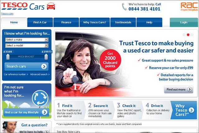 Tesco Cars: carsite.co.uk rebrands