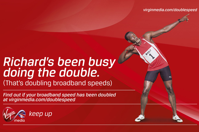 Virgin Media ad: starring Olympics double gold champion Usain Bolt