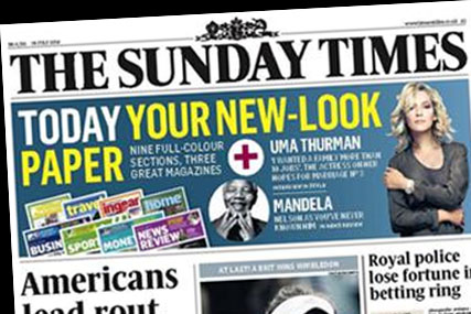 The Sunday Times: delisted by Asda