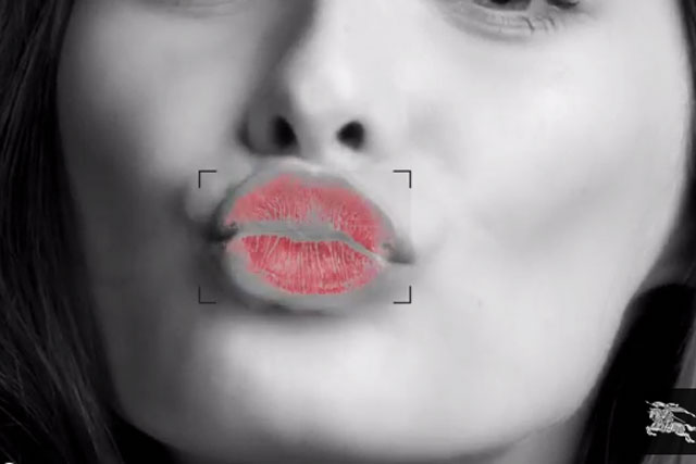 Burberry teams with Google to send digital 'Burberry Kisses'