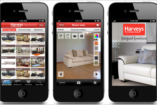 Harveys: releases 'test drive' app