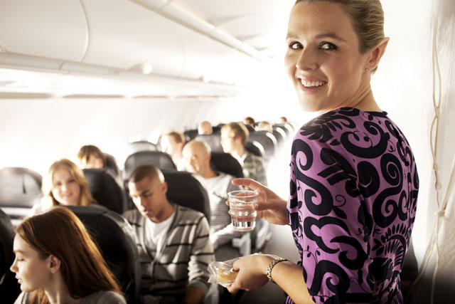 Air New Zealand: hostess sports pointy ears to promote airline's Hobbit film tie-in