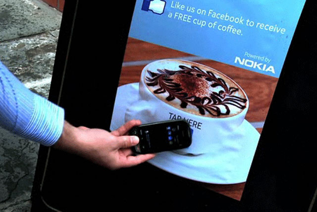 Nokia NFC Hub: encourages brands to adopt the swipe technology