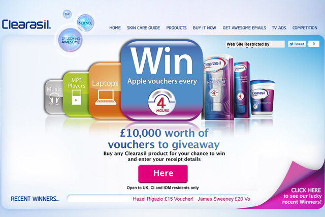 Clearasil: Apple voucher promotion