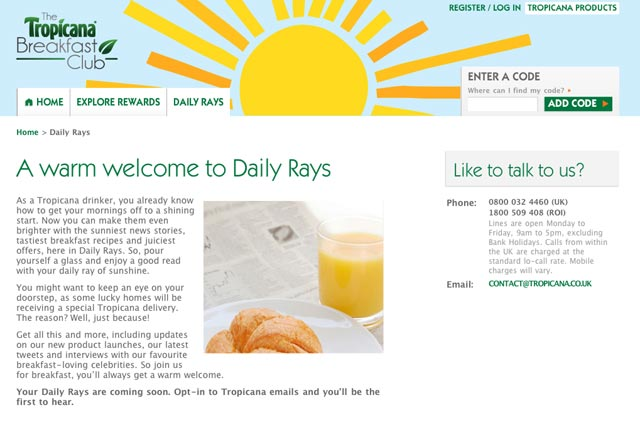 Tropicana; launches Daily Rays and Guardian good news sections lthis week