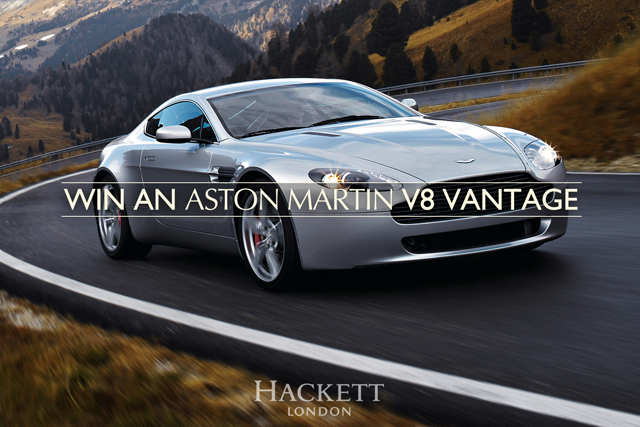 Hackett: giving away free Aston Martin