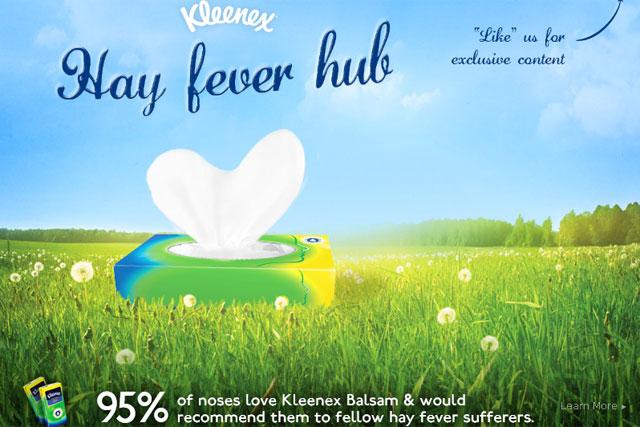 Kleenex: promotes its Balsam range on Facebook