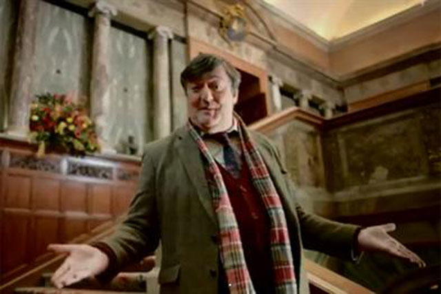 Stephen Fry: featured in the DCMS campaign to boost tourism
