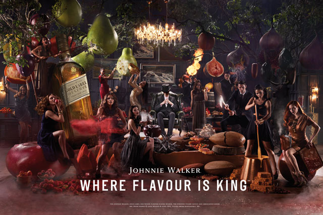Johnnie Walker illustrates flavours with global ad push