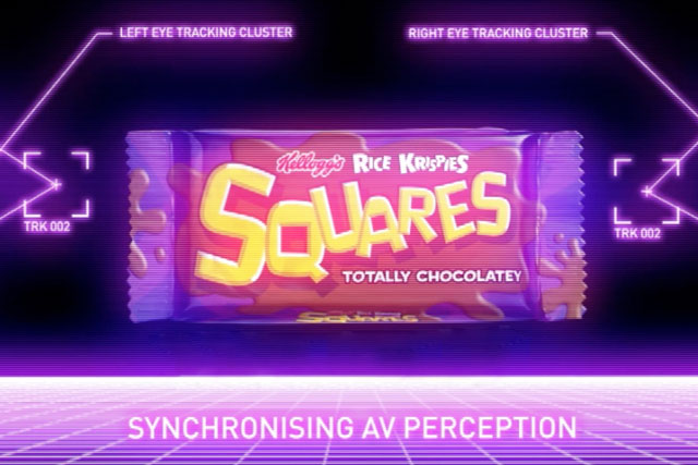 Kellogg's Rice Krispies Squares campaign for totally chocolatey squares