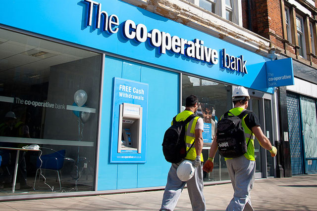 The Co-op bank: expects no profits for two years (picture credit: The Co-operative)