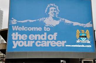 Manchester United fans hit back at Tevez taunt ad