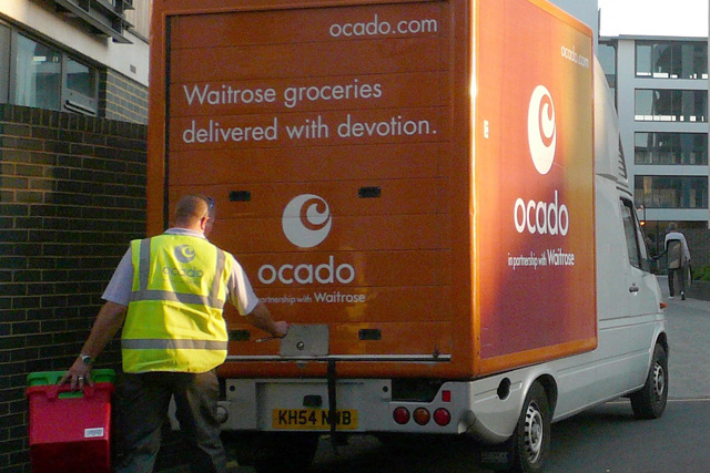 Online grocey sales have surged in the UK
