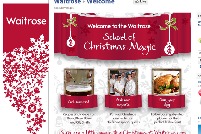 Waitrose: Facebook Christmas cooking content