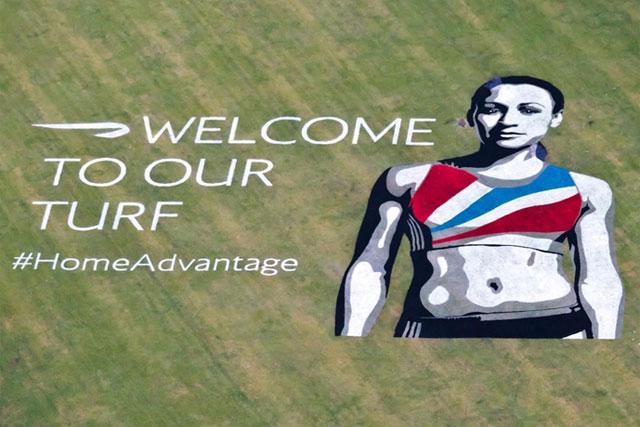 BA: Jessica Ennis campaign underneath the Heathrow flight path