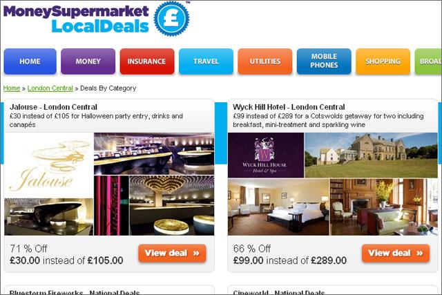 MoneySupermarkets: rolls out online deals service