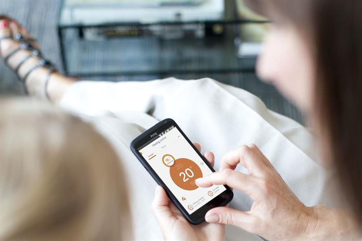 British Gas: the Hive app being used by a consumer