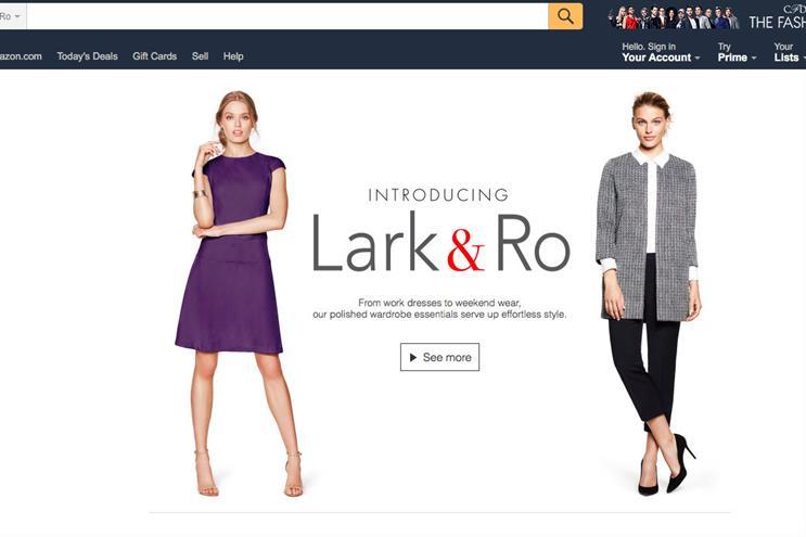 Amazon's own-brand Lark&Ro has its own microsite