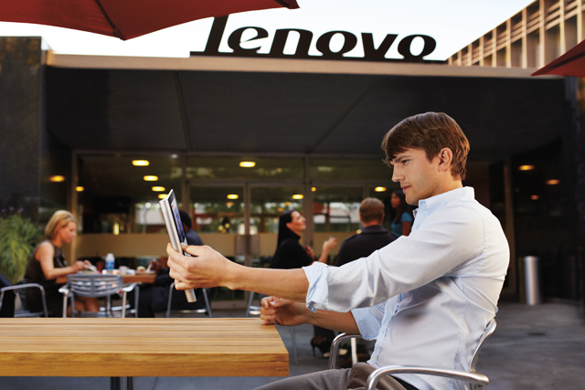 Ashton Kutcher: the face of Lenovo's marketing