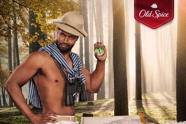 Old Spice: ambassador Isiah Mustafa observes gentlemanly qualities in the UK