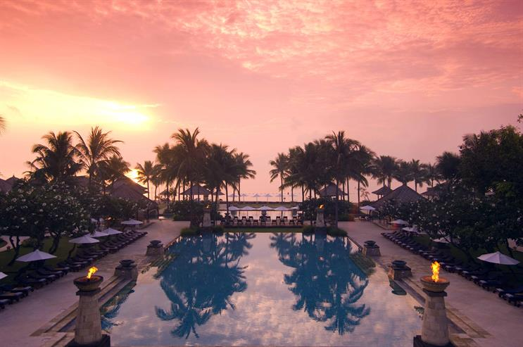 Travellers can book a stay at one of Conrad Hotels' locations including Bali (pictured) through Instagram
