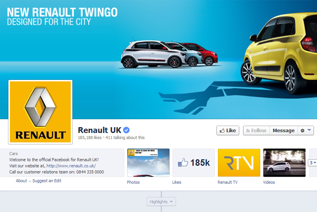Renault: used Facebook's lead-generation channel in the UK