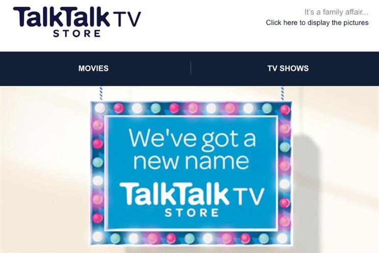 TalkTalk TV Store: the new name for Blinkbox