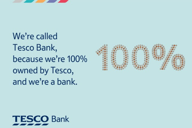 Tesco Bank: looks to the colour of money for new brand identity